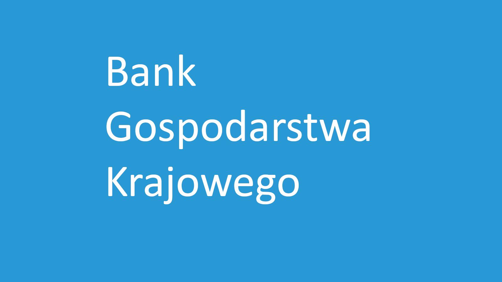 Bank BGK nie skrot