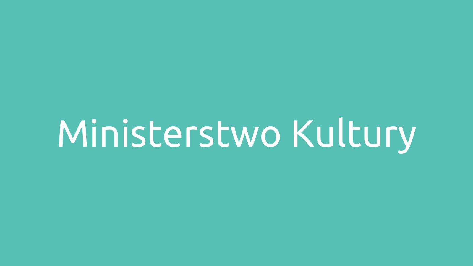 Ministerstwo Kultury